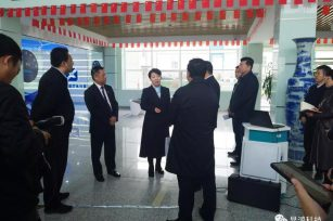 内蒙古自治区党委常委、呼和浩特市委书记王莉霞一行莅临显鸿科技考察调研